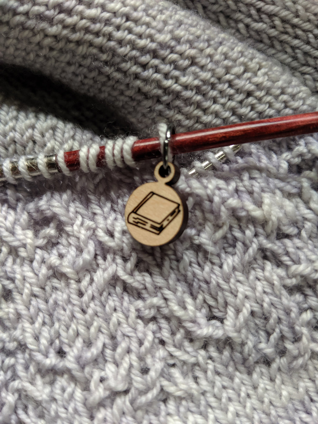 Book Stitch Marker / Progress Keeper - Birch Hollow Fibers