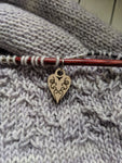 Heart Stitch Marker - Birch Hollow Fibers