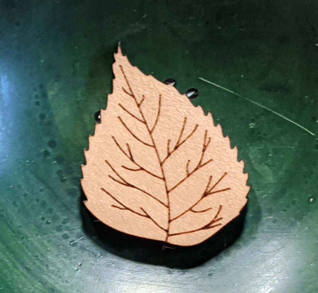 Birch Leaf Pin - Birch Hollow Fibers