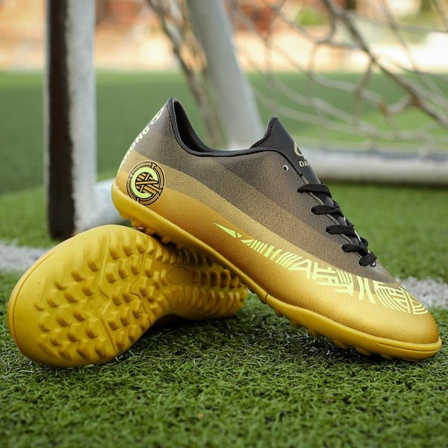 9a4fc81ea4b ... ZUFENG New Adults Men s Outdoor Soccer Cleats Shoes High Top TF FG Football  Boots Training ...