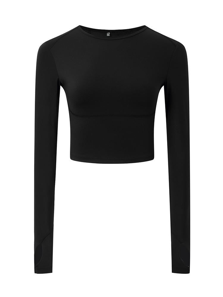 Sloli High Elasticity Long Sleeve Shirt XS / Black