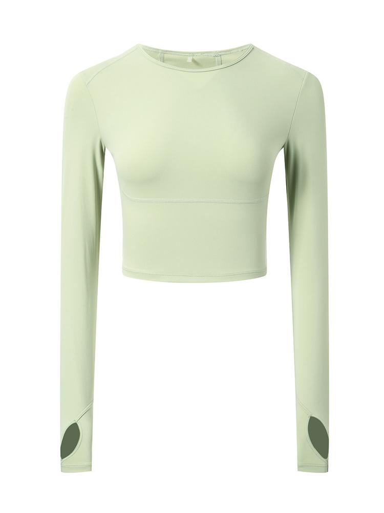 Sloli High Elasticity Long Sleeve Shirt XS / Green