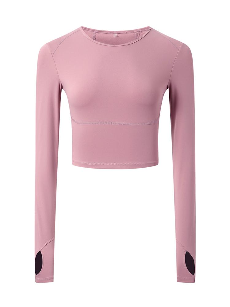Sloli High Elasticity Long Sleeve Shirt XS / Pink