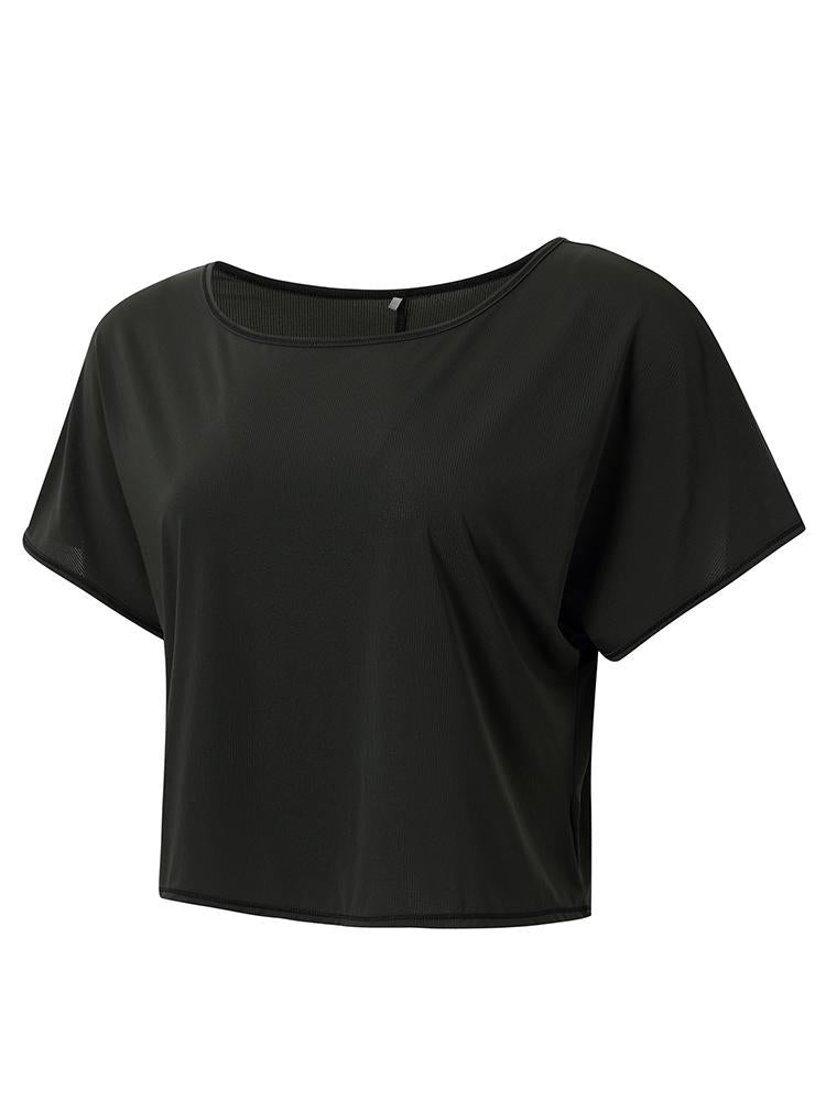 Sloli Breathable Short Sleeve Sports T-Shirt XS / Black