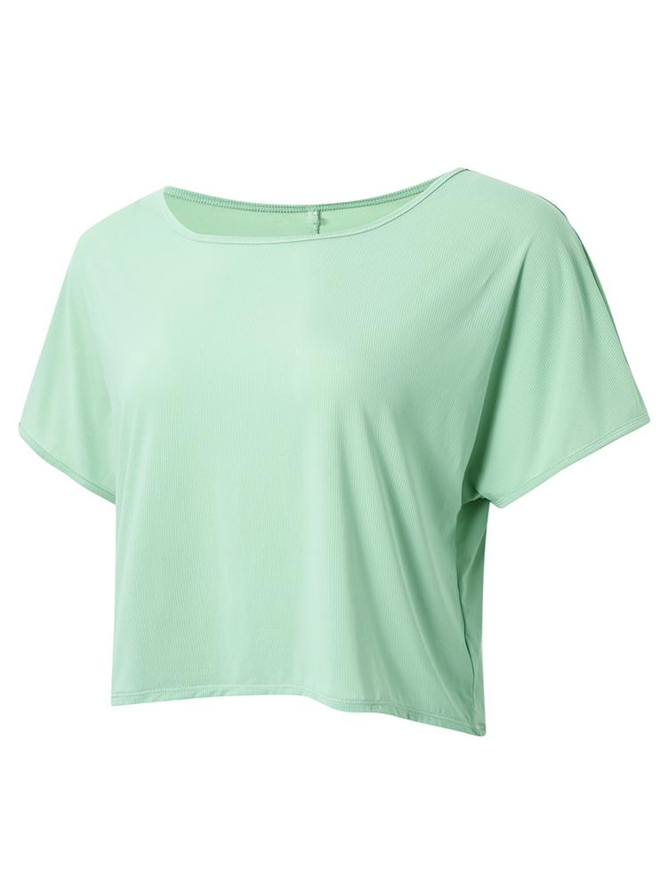 Sloli Breathable Short Sleeve Sports T-Shirt XS / Mint Green
