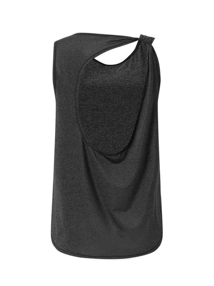 Sloli Backless Breathable Tank Top XS / Black