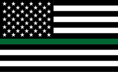 Thin Green Line Flag Official