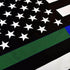 Thin Green & Blue Line American Flag, Polyester, 3 x 5 Ft