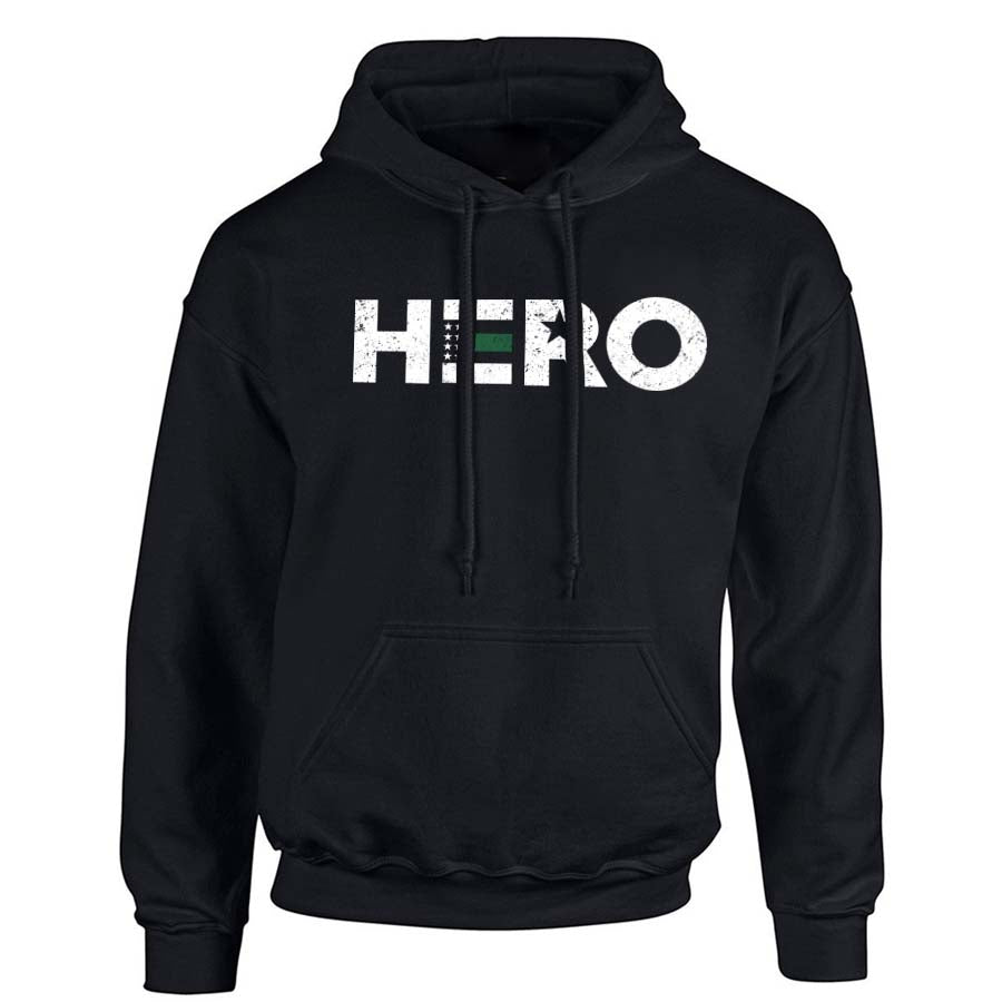Men's Hoodie - Thin Green Line HERO