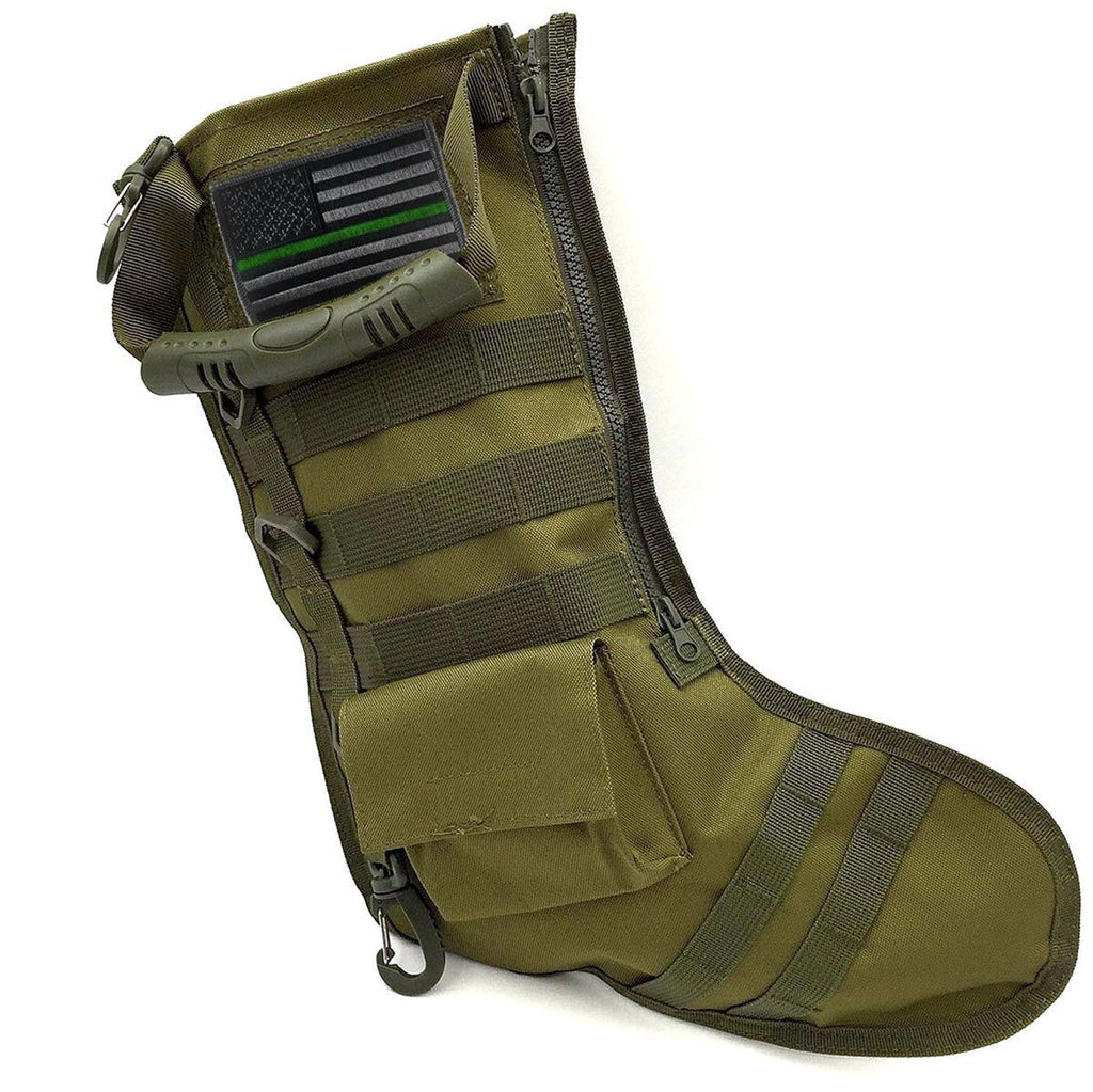 Thin Green Line Military Christmas Tactical Stocking