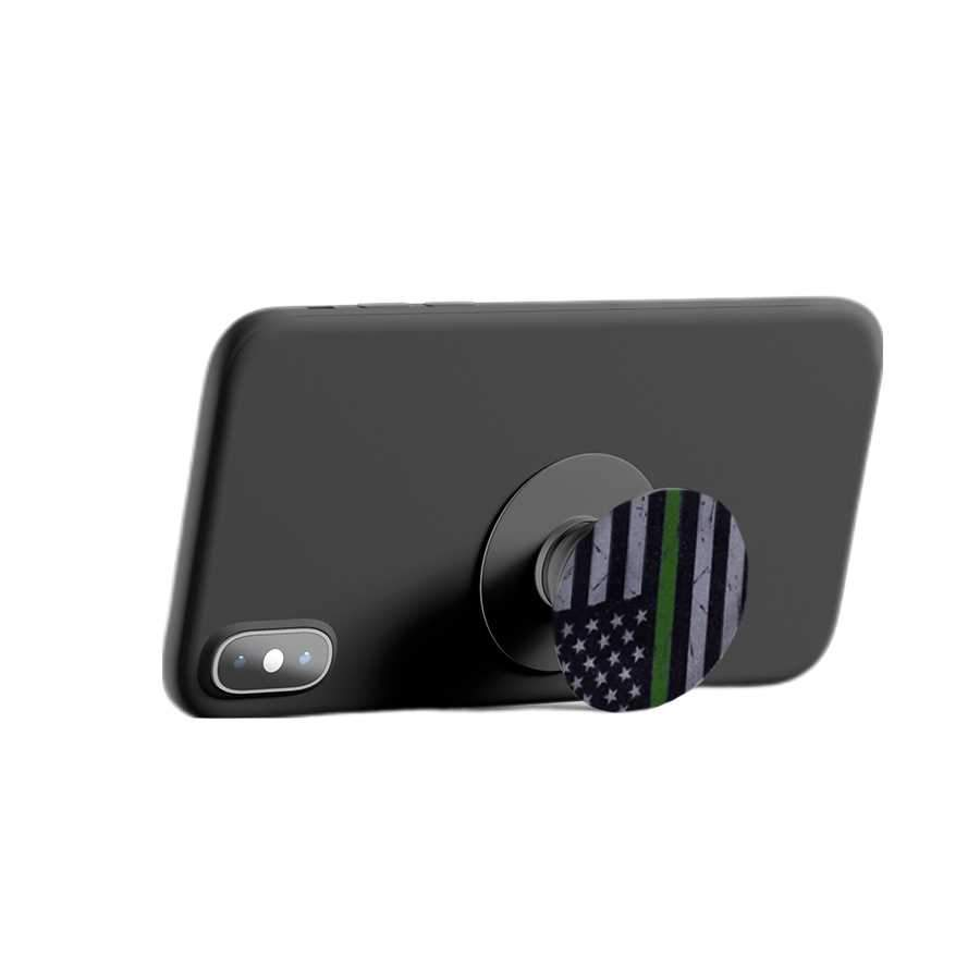 Subdued Phone Holder - Thin Green Line Flag