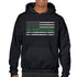 Men's Hoodie - Classic Thin Green Line, Black