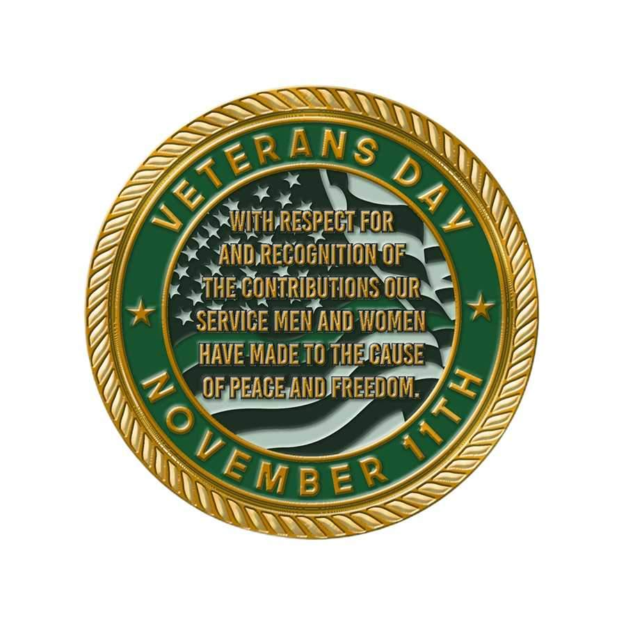 Thin Green Line Challenge Coin - Veteran's Day