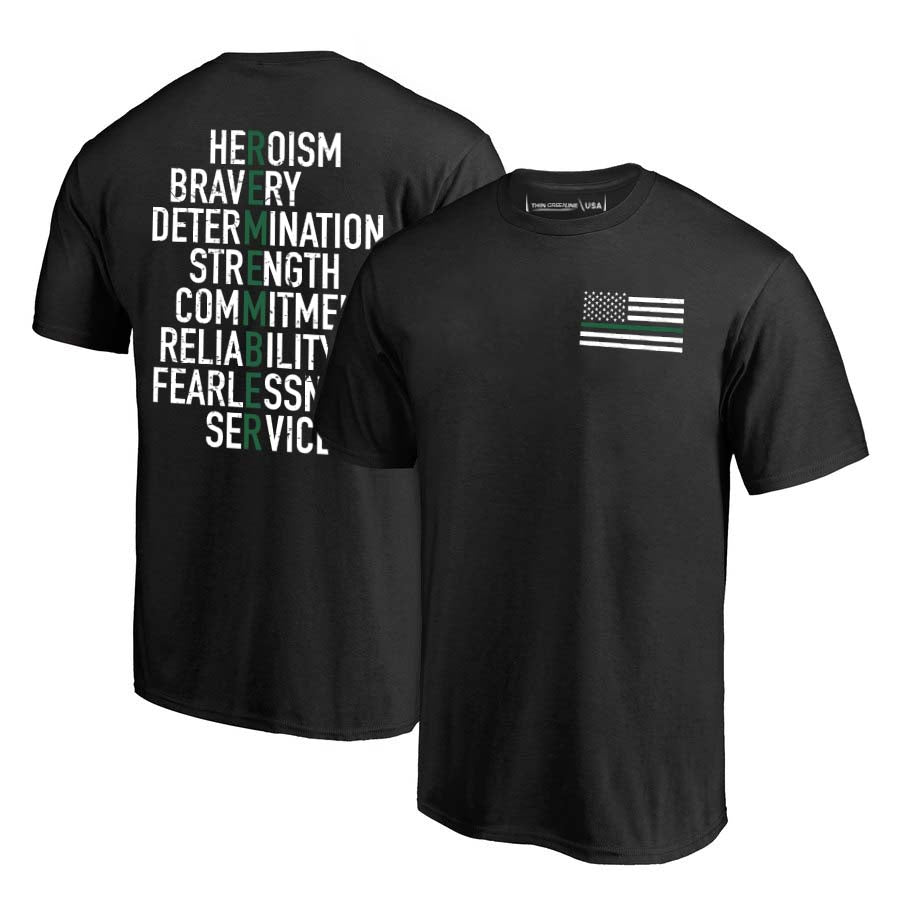 Men's T-Shirt - Thin Green Line Remember