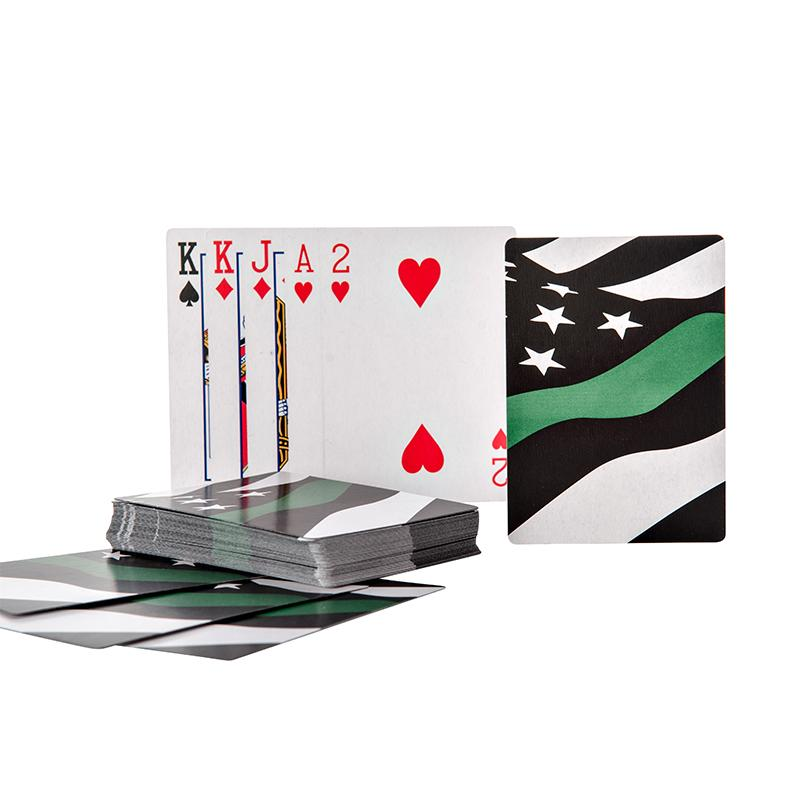 Thin Green Line® Military American Flag - Playing Cards