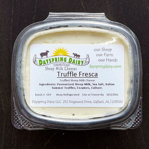 Truffle Fresca Sheep Milk Cheese, 5 oz.
