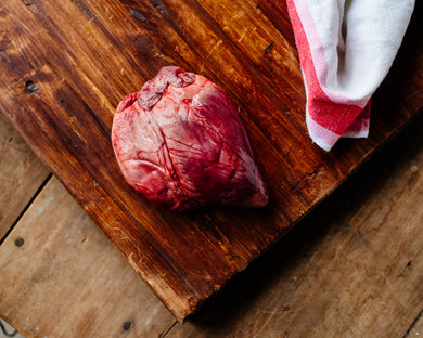 Pasture-raised pork heart from Marble Creek Farmstead in Sylacauga, AL