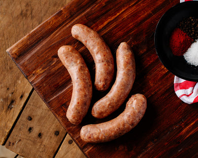 Pasture-raised mild Italian sausage from Marble Creek Farmstead in Sylacauga, AL