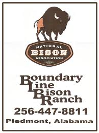 Boundary Line Bison Ranch logo from Piedmont, AL