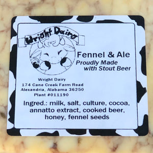 Fennel & Ale (Flavored Cheddar)