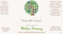 Load image into Gallery viewer, Virus Be Gone (Children's Formula), 1 oz.