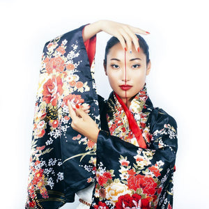 Modern Geisha with typical make-up