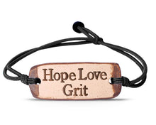 Load image into Gallery viewer, HopeLoveGrit bracelet