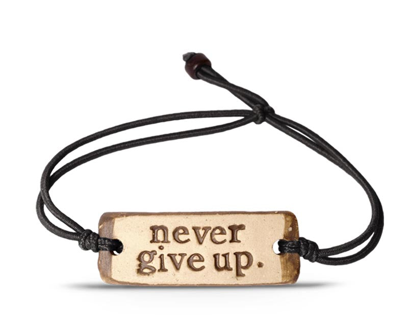 never give up. band