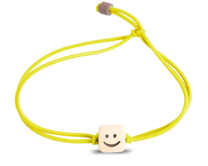 smiley face bead band