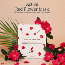 Load image into Gallery viewer, [HYGGEE] Active Red Flower Mask 10ea