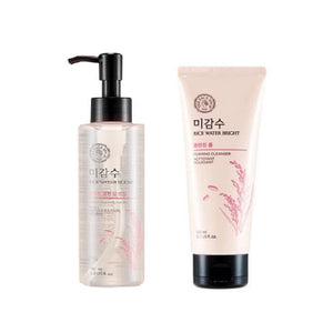 [THE FACE SHOP] Rice Water Bright Cleansing Oil 150ml + Cleansing Foam 150ml SET