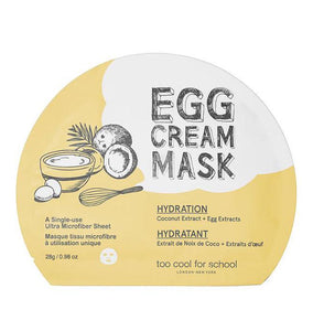 [too cool for school] Egg Cream Mask Hydration 28g * (5 sheets)