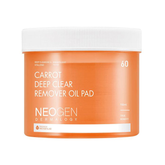[Neogen] Dermalogy Carrot Deep Clear Remover Oil Pad 60Pads