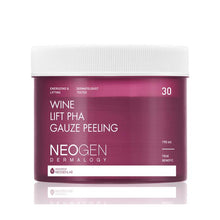Load image into Gallery viewer, [Neogen] Dermalogy Wine Lift PHA Gauze Peeling 30Pads