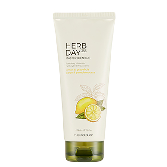 [THE FACE SHOP] Herb Day 365 Master Blending Foaming Cleanser - Lemon & Grapefruit 170ml
