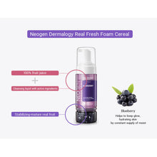 Load image into Gallery viewer, [NEOGEN] Dermalogy Real Fresh Foam Cleanser Blueberry 5.6 oz / 160g