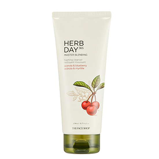 [THE FACE SHOP] Herb Day 365 Master Blending Foaming Cleanser - Acerola & Blueberry 170ml