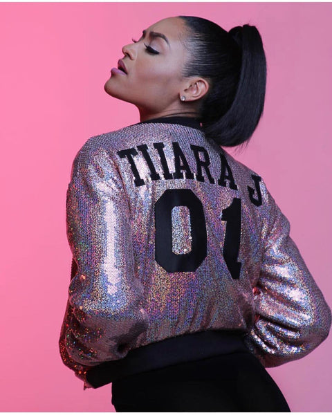 PERSONALIZED SEQUIN BOMBER
