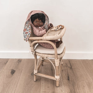 Tiny Harlow Rattan Doll's Highchair