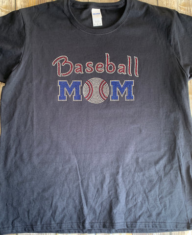 Baseball Mom Rhinestones