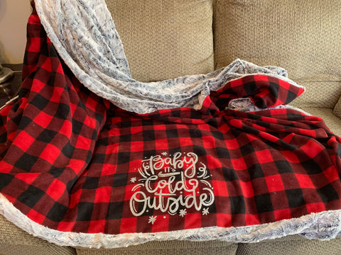 Buffalo Plaid Fur Blanket