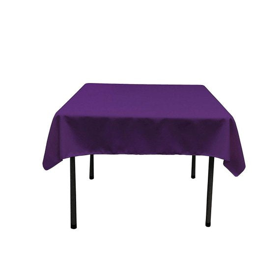 Square Tablecloth 60 X 60 Inch Purple Square Table Cloth For Square Or Round Tables In Washable Polyester