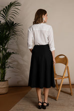 Load image into Gallery viewer, Organic Cotton Flared Midi Skirt I'mdividual