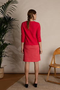 Organic Cotton Red Magenta Jersey Dress I'mdividual