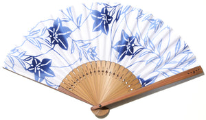 "Folding Fan  ""Chinese Bellflower"""