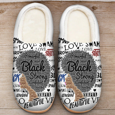 Naptural Hair Art - Afro Black Strong Slipper