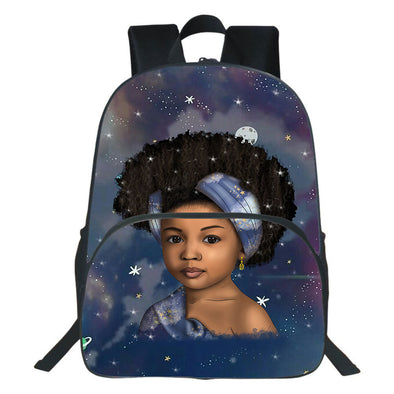 To My Daughter Afro Traditional Girl Backpack
