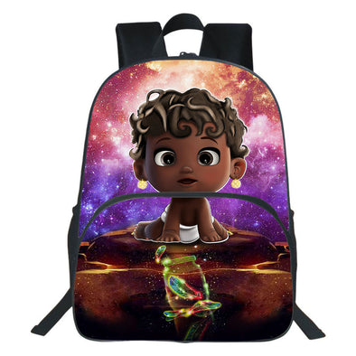 To My Baby Curly Active Kid Girl Backpack