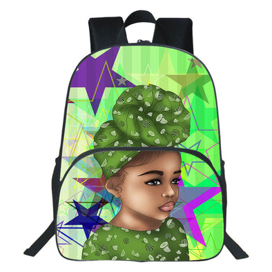 Afrocentric Afro Turban Girl Backpack