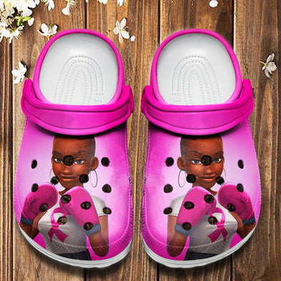 Breast Cancer Awareness - Black Women Are Fighters Crocs